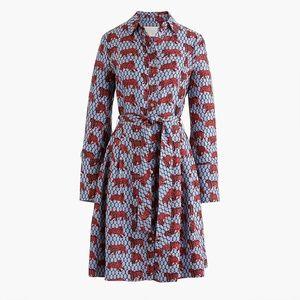 J. Crew Collection Roaming Tiger Silk Shirt Dress